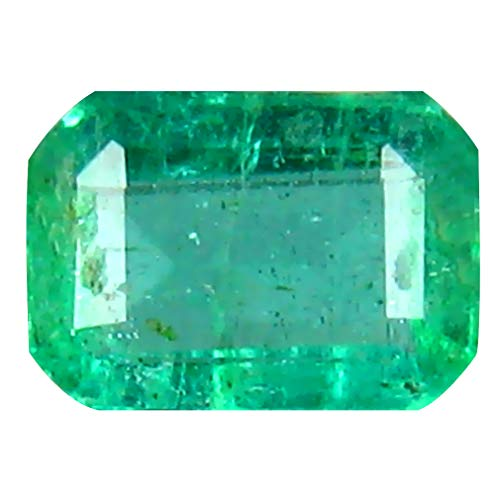 0.36 ct Octagon Cut (5 x 4 mm) Colombian Emerald Natural Loose Gemstone
