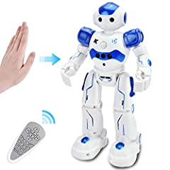 The Remote Control Robot is made of non-toxic, eco-friendly ABS plastic to achieve long lasting durability and health safety.The robot responses to various hand gestures that command the device to move forward, backward, left, and right. Whee...