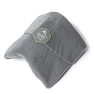 Trtl Pillow - Scientifically Proven Super Soft Neck Support Travel Pillow – Machine Washable (Grey)