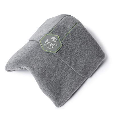 Trtl Pillow - Scientifically Proven Super Soft Neck Support Travel Pillow - Machine Washable (Grey) ()