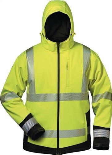 "Elysee 23426-m tamaño mediano ""melvin"" Invierno softshell-coat–fluorescente amarillo/negro"
