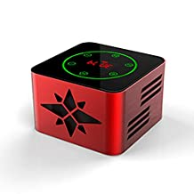 KR-8100 protable bluetooth wireless speaker, support Light-sensitive Touch Button,3D Surround,NFC Quick Match,LED Display,USB,TF,LINE IN,FM function,red