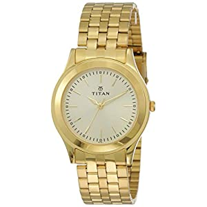 Titan Analog Gold Dial Men's Watch -NJ1648YM02C
