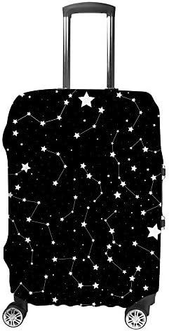 スーツケースカバー 手書きの星座 天文学 伸縮素材 キャリーバッグ お荷物カバ 保護 傷や汚れから守る ジッパー 水洗える 旅行 出張 S/M/L/XLサイズ