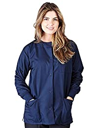 Natural Uniforms Women's Warm Up Jacket (True Navy Blue) (Large) (Plus Sizes Available)