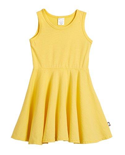 City Threads Big Girls' Cotton Party Twirly Tank Dress - Sensitive Skin and Sensory Friendly - School Summer, Yellow, Size 10