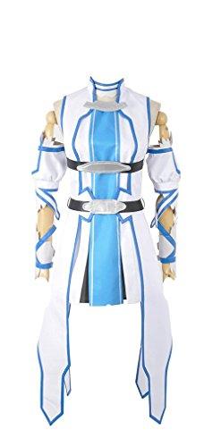 SAO Sword Art Online 2 Asuna Yuuki Blue Version Cosplay Costume(Female Medium) ()