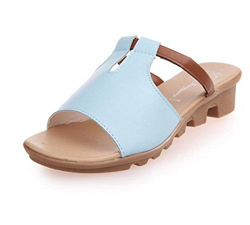 bißchen a sommer Damen Pantoletten Herbst blau Atmungsaktive Frühling strandschuhe casual Ein schöne Clogs mode AwdqOBB4