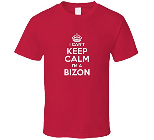 Bizon I Can't Keep Calm Parody T Shirt M Red