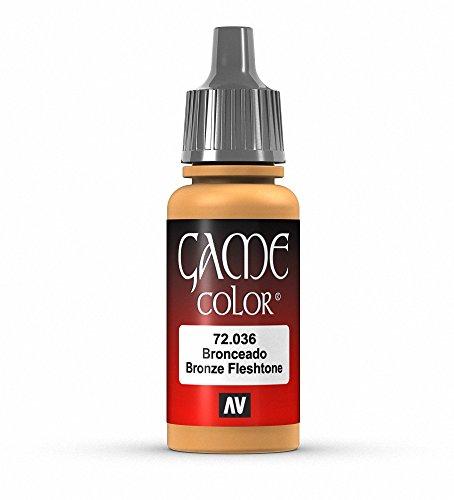 Vallejo Game Color Bronze Fleshtone Paint, 17ml
