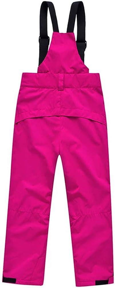 DianShaoA Pantalones De Esqu/í para Ni/ños Pantalones De Babero Traje De Nieve Impermeable para Deportes Pantal/ón De Esqu/í Cremallera En El Tobillo Y Tirantes Desmontables