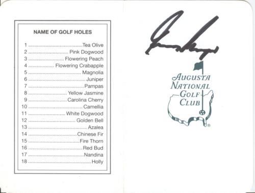 Gary Player Autographed Masters Augusta National Golf Club Scorecard - 1961, 1974, 1978 Champion