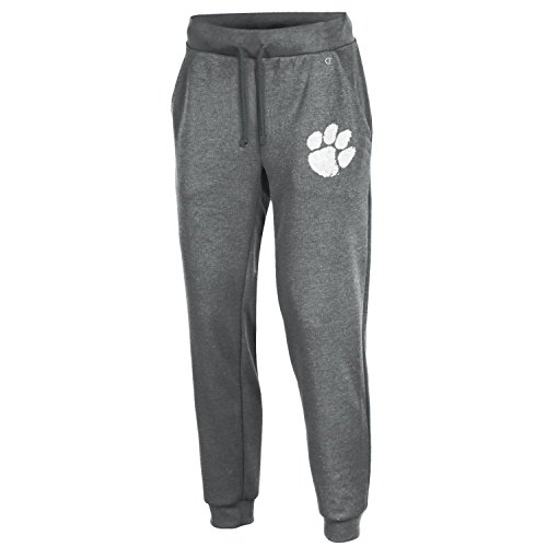 Tigers Womens Pants - Champion NCAA Clemson Tigers Women's Cool Down Jogger Pants, Large, Gray