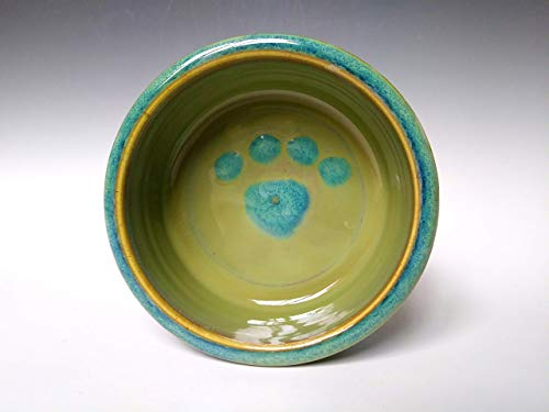 Small Dog Dish ~ Purple Heather Pottery ~ Pet Food Water Bowl ~ Handmade Ceramic