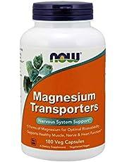 Now Foods Magnesium Transporters, Veg Capsules, 180ct