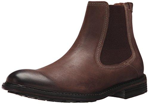 Bass Leather Boot - G.H. Bass & Co. Men's Hendrick Chelsea Boot, Dark Brown, 8 M US