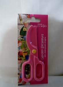 Kids Plastic Secateurs or Garden Scissors - Pink