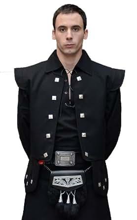 Gents Wool Chieftain Waistcoat Black option Small -