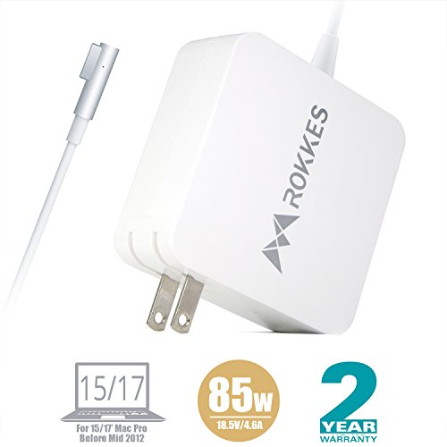 Macbook 15''/17'' Mac Pro Charger - 85 W Magsafe L-Tip MAC Power Adapter, Replacement For Apple Old MacBook Pro/Air 11.6/13.3 (Mid2012 later), Mac Laptop Charger A1172 A1189 A1278