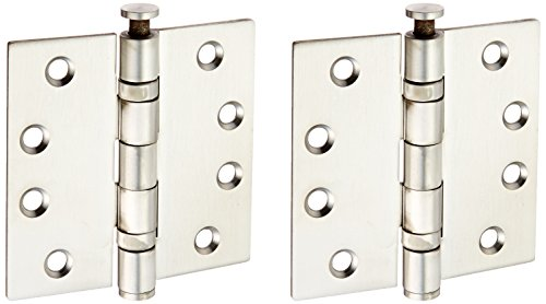 Deltana SS44BU32D Stainless Steel 4-Inch x 4-Inch Square Hinge - Bearing Square Deltana Hinge