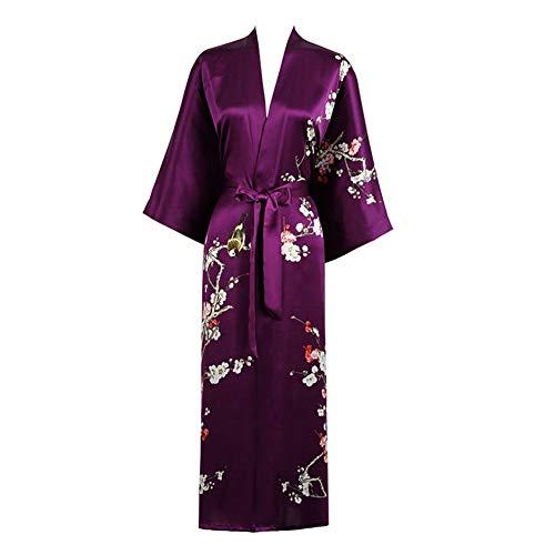 Grace Silk 100% Silk Long Robe Kimono
