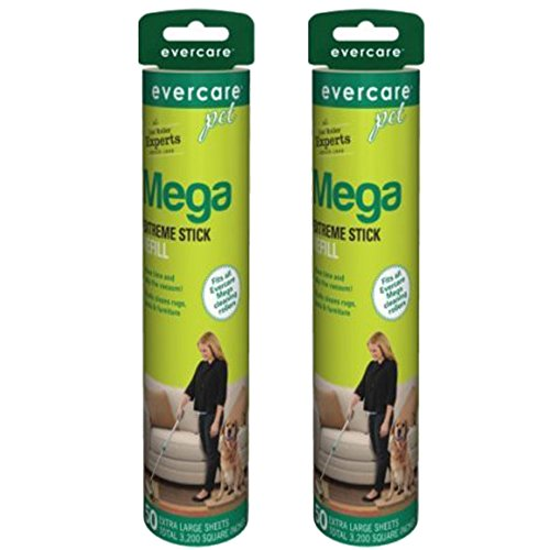Evercare Pet Mega Roller 50-Layer Refill, 2-Pack