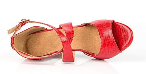 Sandales Mariage Talons Femme De Red Sangle Aiguilles Minitoo Mode Danse Chaussures Croix z6OWf