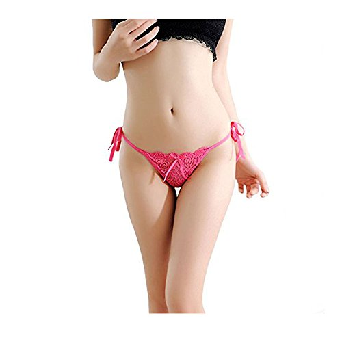 1fb0e3515 Huahan Extension Women Tie Side Bowknot Ribbons Lace Thongs Panties  Adjustable G-String Underwear - Buy Online in KSA. Clothing products in  Saudi Arabia.