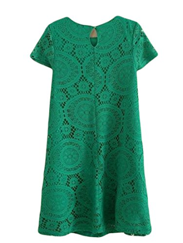 A Line Green Beach Crewneck Cromoncent Dress Womens Fit Slim Casual Pleated Sun PPxFq0Tw