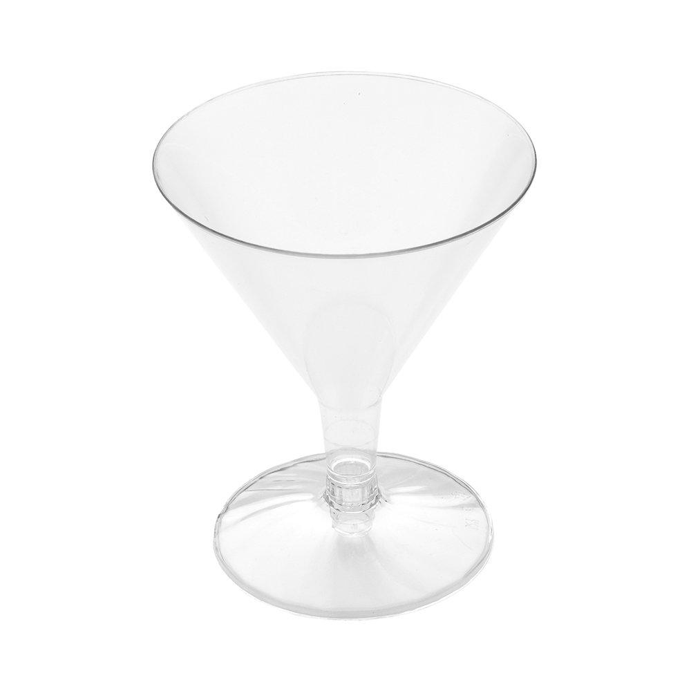 Plastic Martini Glass, Disposable Martini Glasses - Crystal Clear Premium Plastic - 4.75 oz - 100ct Box - Restaurantware by Restaurantware (Image #2)