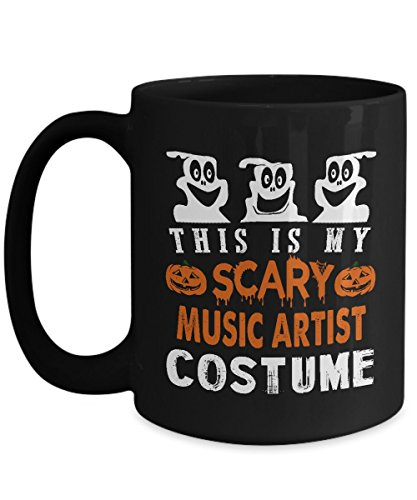 Music Artist Costume Black Coffee Mug 15oz This Is My Scary Music Artist Costume Halloween For Yourself, Colleague Who Are Music Artist Costume On Halloween