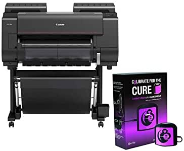 "Canon imagePROGRAF PRO-2000 24"" Professional Large-Format Inkjet Photo Printer, 2400x1200 dpi, USB 2.0, Ethernet & Wi-Fi - with X-Rite ColorMunki Accurate Monitor Display Calibration Pink"