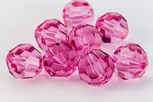 8 pcs - Round 7mm (5000) Swarovski Crystal Beads Rose