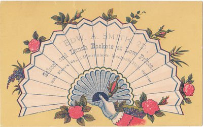 Victorian Trade Card for School and Lunch Baskets Salem , Mass Circa 1890
