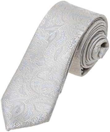 DAE7B04-06 Happy Mens Gift Microfiber Patterned Birthday Skinny Tie By Dan Smith