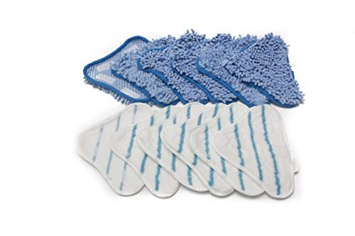 LTWHOME Replacement Microfiber Mop Pads and Coral Pads Set Fit For H2O Steam Mop X5 (Pack of 12) by LTWHOME (Image #7)