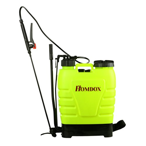 Polyethylene Tank Sprayer (Homdox 4 Gallon Backpack Sprayer Lawn Garden Sprayer with Steel Wand For Fertilizer, Herbicides and Pesticides)