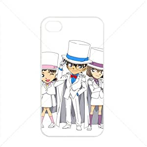 Detective Conan Manga Anime Comic Apple iPhone 4 / 4s TPU Soft Black or White case (White)