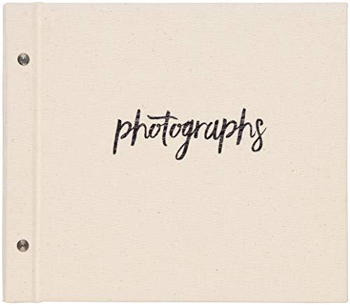 (C.R. Gibson Natural Cloth 'Photographs' Memory Book and Photo Album, 25 Photo Sheets, 10