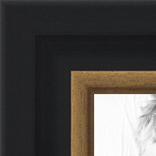 ArtToFrames 12x16 inch Black Velvet with Gold Picture Frame, - Frame Gold Black
