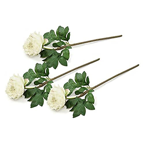 Artificial flowers stems amazon dii 3 piece artificial peony natural silk flowers for bridal bouquet home decoration diy arts crafts project garden office decor centerpiece dcor mightylinksfo