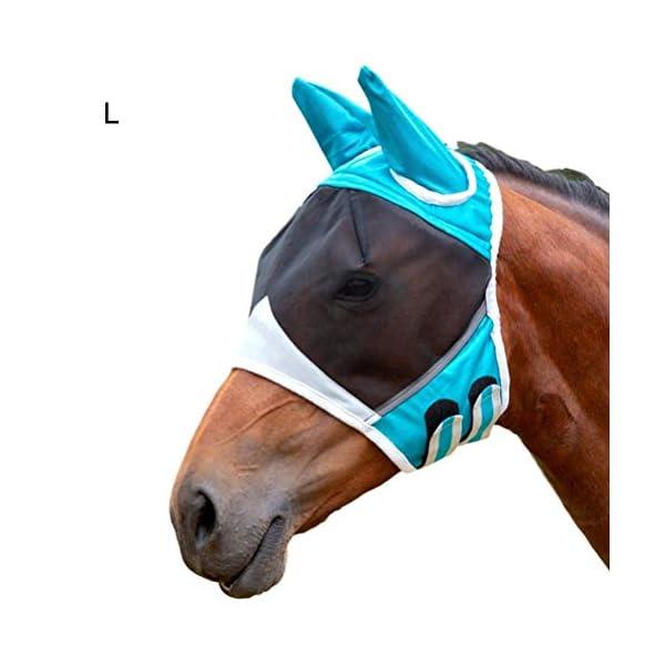 Jackallo Maschere per Cavalli Maschera Traspirante per Cavalli Maschera per Cavalli Antizanzara Maschera Traslucida con… 1 spesavip
