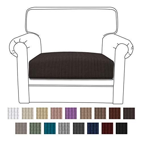 Easy-Going Stretch Cushion Cover Sofa Cushion Furniture Protector Sofa Seat Sofa slipcover Sofa Cover Soft Flexibility with Elastic Bottom(Chair Cushion,Chocolate)
