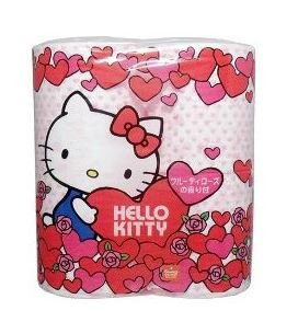 F/s Japan Import Hello Kitty Toilet Tissue Paper 4 Rolls Soft Rose Aroma New (Costume Store Near My Location)