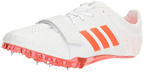 adidas Performance Adizero Accelerator Track Shoe, White/Infrared/Metallic/Silver, 10.5 M US by adidas
