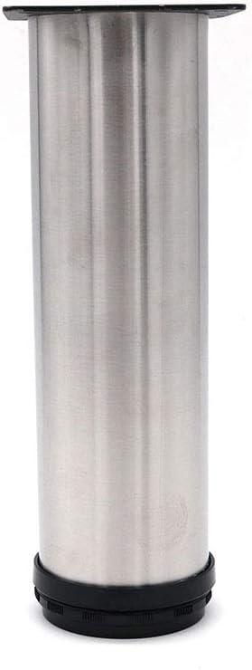 NUZAMAS Lot de 4 pieds r/églables en acier inoxydable 60 x 200 mm