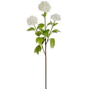 "29"" Silk Snowball Flower Spray -Cream (Pack of 12) 51"