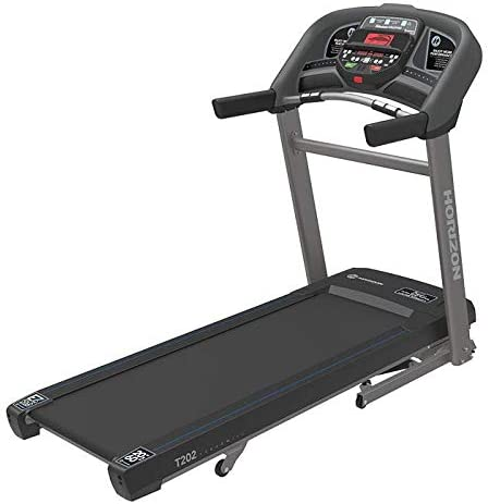 Horizon T101 Go Series Treadmills. Easy to use features and durable construction. Choose the T101's easy'set up T202's longer running deck and larger motor T303's enhanced HIIT programing console