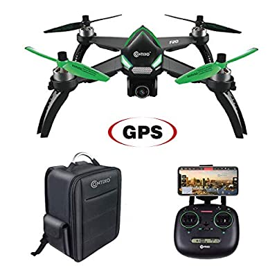 Contixo F20 RC Remote App Controlled Quadcopter Drone | 1080p HD WiFi Camera, Follow Me, Auto Hover, Altitude Hold, GPS, 1-Key Takeoff/Landing Auto Return Home Includes Storage Aluminum Hardcase