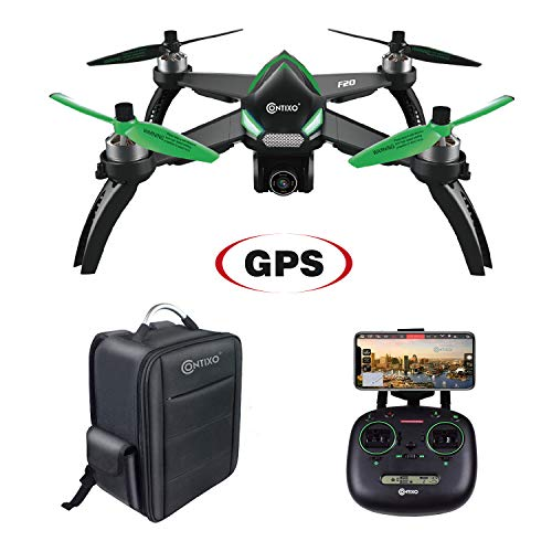 Independance Day Contixo F20 RC Remote App Controlled Quadcopter Drone | 1080p HD WiFi Camera, Follow Me, Auto Hover, Altitude Hold, GPS, 1-Key Takeoff/Landing Auto Return Includes Storage Backpack